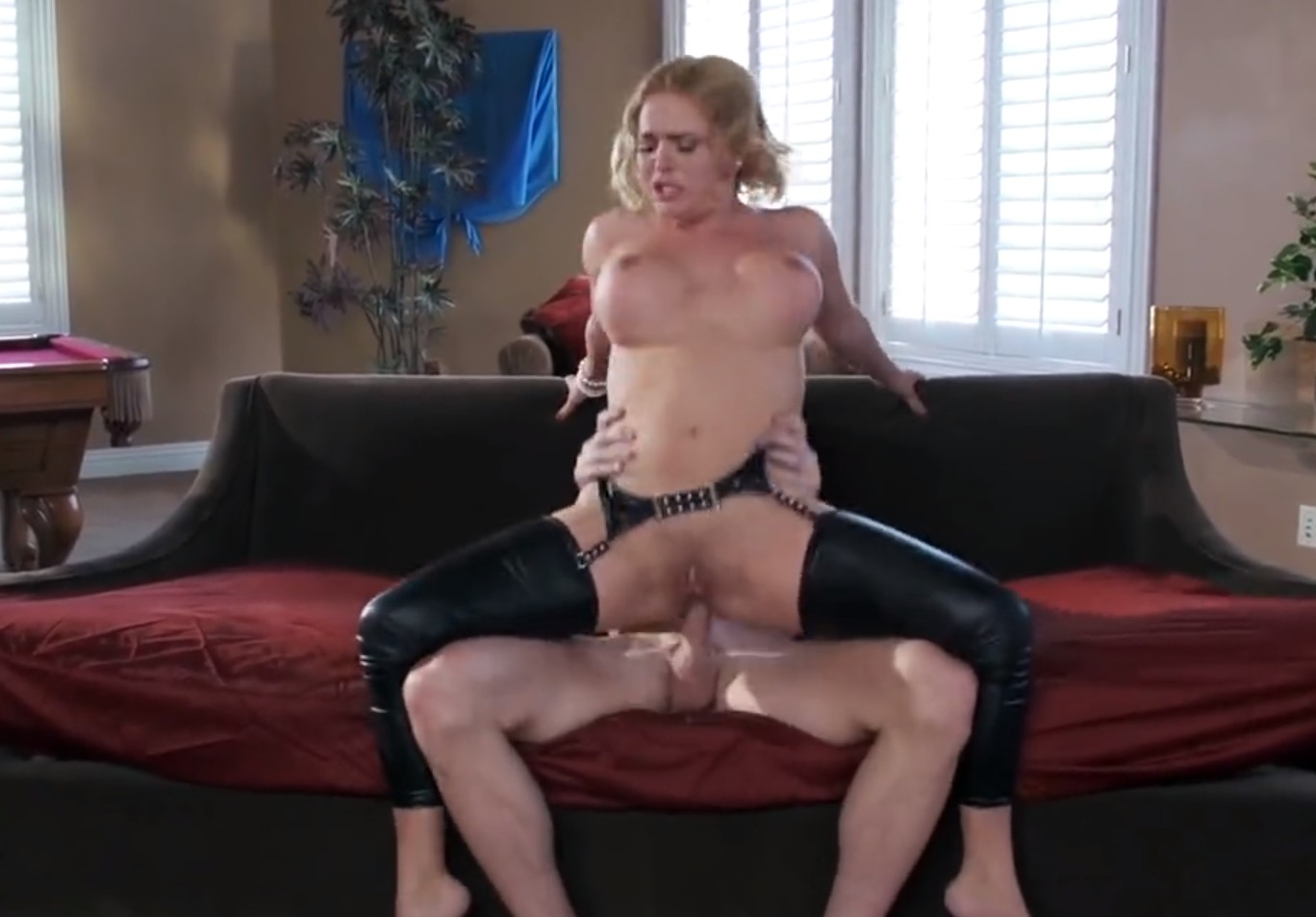 Anal Blonde Fuck anal fucking with latex blonde